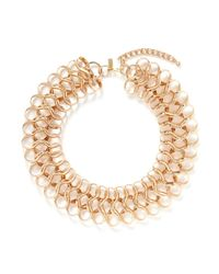Kenneth Jay Lane | Metallic Loop Choker Necklace | Lyst