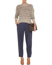 Vince - Brown Marled Cotton-Blend Sweater - Lyst