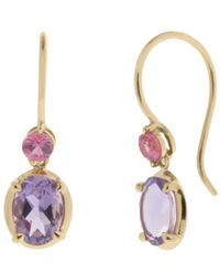 Dinny Hall - Purple Gold Amba Amethyst Hook Earrings - Lyst