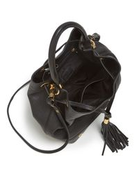 MILLY - Brown Shoulder Bag - Astor Drawstring Bucket - Lyst