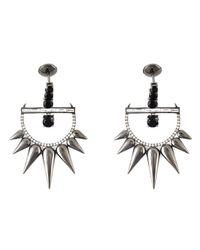 Elise Dray | Metallic Spinel Spiked Diamond Earrings | Lyst