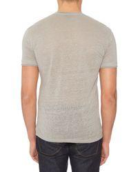 John Varvatos Gray Short-sleeved Linen-jersey T-shirt for men