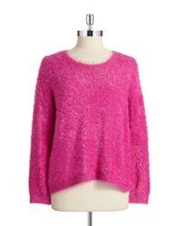 Vince Camuto | Pink Eyelash Fringe Pullover | Lyst