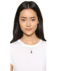 Pamela Love | Metallic Pluma Pendant Necklace - Brass | Lyst