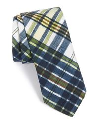 Todd Snyder - Blue Plaid Cotton Tie for Men - Lyst