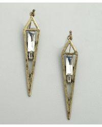 R.j. Graziano - Metallic Gold Vertical Hanging Dagger Earring - Lyst