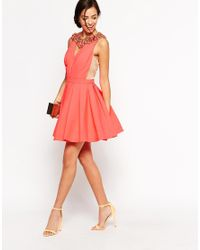 Forever Unique - Pink Caitlin Skater Dress - Lyst