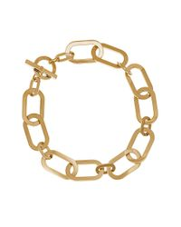 Michael Kors | Metallic Link Toggle Necklace | Lyst