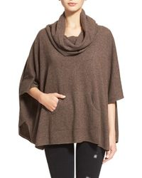 Joie | Brown 'concorde' Cowl Neck Wool & Cashmere Sweater | Lyst