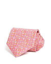 Ferragamo - Pink Butterflies Classic Tie for Men - Lyst