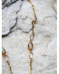 Free People - Metallic Lili Claspe Womens Opal Horn Lariat Necklace - Lyst
