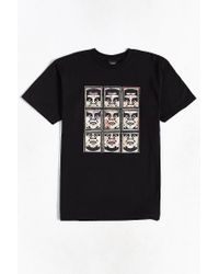 Obey | Black Nine Faces Tee for Men | Lyst