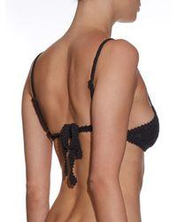 She Made Me - Black Essential Crochet Bikini Top - Lyst