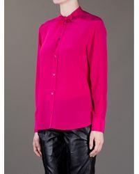 Saint Laurent - Pink Bow Blouse - Lyst