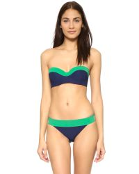 Tory Burch - Blue Color Block Hipster Bikini Bottoms - Lyst
