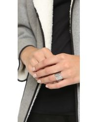 Vita Fede | Metallic Inverso Crystal Ring - Silver/clear | Lyst
