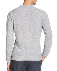 YMC - Gray Towelling Crewneck Sweater for Men - Lyst