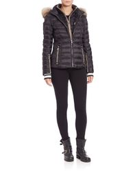 Bogner | Black Kelly Fur-trimmed Short Puffer Jacket | Lyst