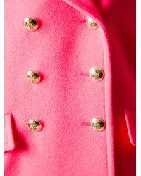 Emilio Pucci Pink Oversized Pea Coat