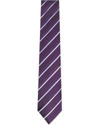 Charvet | Purple Multi-stripe Silk Tie for Men | Lyst