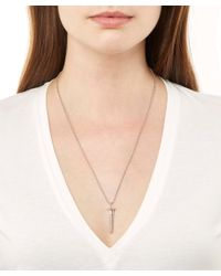 True Rocks - Metallic Small Silver Screw Necklace - Lyst