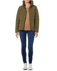 Vila | Green Long Sleeved Padded Jacket | Lyst