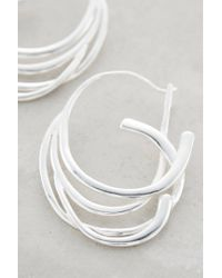 Anthropologie | Metallic Cascading Hoops | Lyst