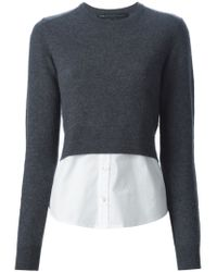 Marc By Marc Jacobs - Gray Shirt Hem Sweater - Lyst