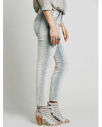 Free People - Blue Womens Cord Roller Skinny - Lyst