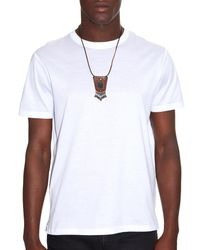 Saint Laurent Brown Pierre Jet-Stone And Leather Necklace for men