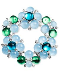 Jones New York - Silver-Tone Blue And Green Bauble Cluster Pin - Lyst