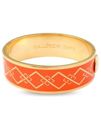 Halcyon Days | Orange 18ct Gold Plated Trellis Bangle | Lyst