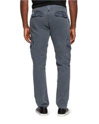 Calvin Klein Jeans | Blue Linen Straight Leg Cargo Pants for Men | Lyst