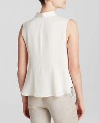 Theory White Top - Kenzly Modern Silk Georgette