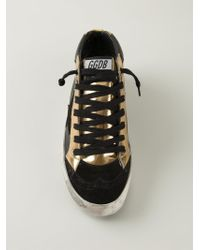 Golden Goose Deluxe Brand - Black 'Mid Star' Sneakers - Lyst