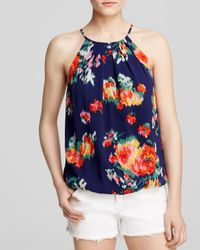 Joie Multicolor Anatese B Floral Ikat-print Top