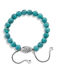 David Yurman | Metallic Spiritual Beads Bracelet With Turquoise | Lyst