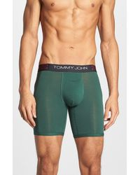 Tommy John | Green 'Cool Cotton' Boxer Briefs for Men | Lyst