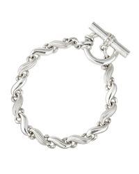 Slane | Metallic Sterling Silver S-Link Bracelet | Lyst