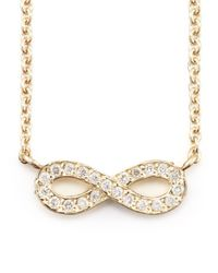 Sydney Evan - Metallic 14k Gold Diamond Infinity Pendant Necklace - Lyst