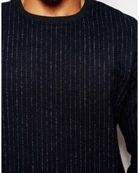 2 X H Brothers - Blue 2x H Brothers Wool Mix Sweatshirt In Pinstripe for Men - Lyst