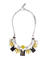 Max Mara | Metallic Gilbert Statement Necklace | Lyst