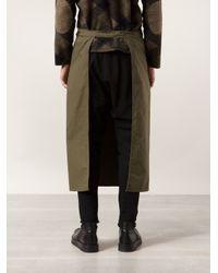 Engineered Garments Green Open Apron for men