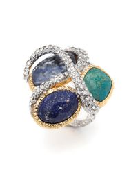Alexis Bittar Multicolor Multi Stone Encrusted Vine Ring