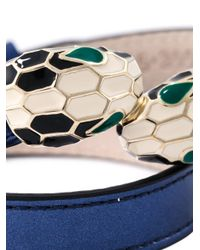 BVLGARI - Blue 'serpenti' Wrap Bracelet - Lyst