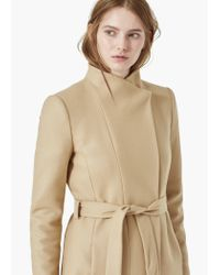 Mango | Brown Belt Wool Coat | Lyst