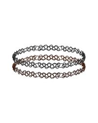 TOPSHOP | Multicolor Black And Brown Tattoo Choker | Lyst