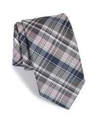 Michael Kors | Pink 'precious' Plaid Silk & Cotton Tie for Men | Lyst