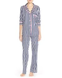 Betsey Johnson | Blue Print Flannel Pajamas | Lyst