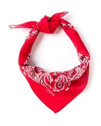 Saint Laurent | Red Neck Tie for Men | Lyst